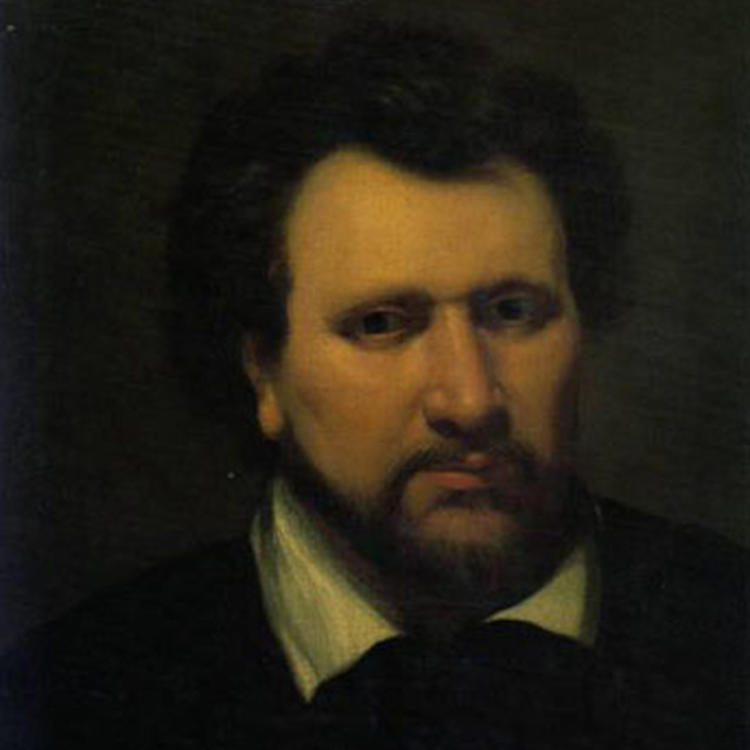 Painting of Ben Johnson on book cover of Ben Jonson A life by Ian Donaldson