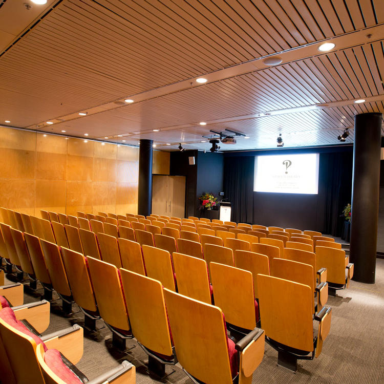Auditorium with seat and a stage for presentations