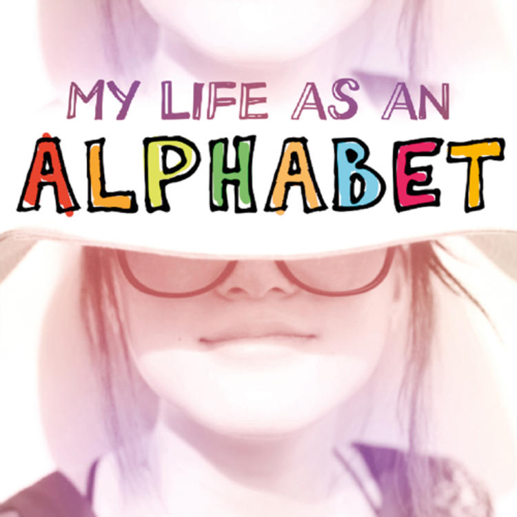 Womans face half covered on book cover of My Life as an Alphabet by Barry Jonsberg