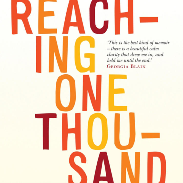 Toy dinosaurs lined up on book cover of Reaching One Thousand - A story of love, motherhood and autism by Rachel Robertson
