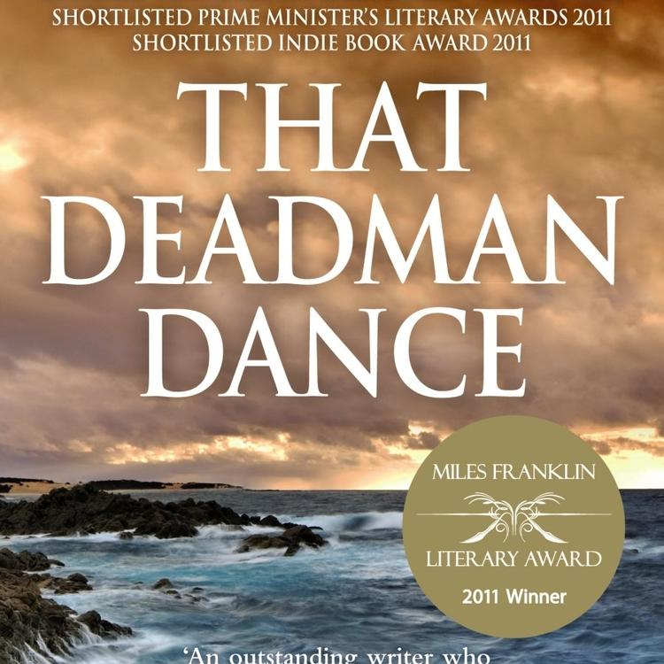Shoreline with ocean and rocks on book cover for That Deadman Dance by Kim Scott