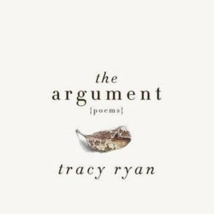Old leave on book cover of The Argument by Tracy Ryan