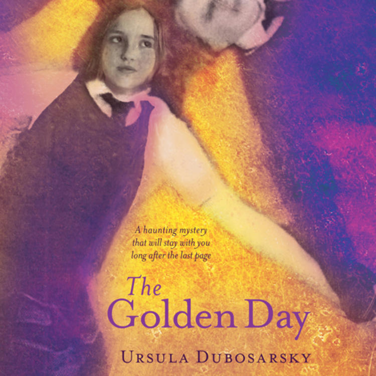 4 school children lying down and looking up on book cover of The Golden Day by Ursula Dubosarsky