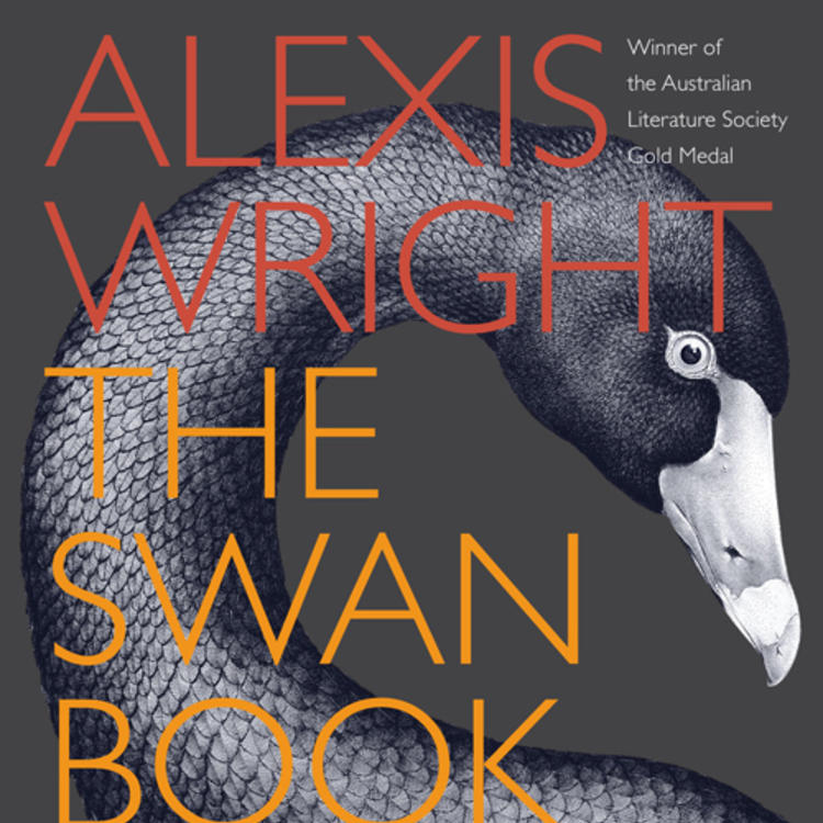 A side view of a Swan on book cover of The Swan Book by Alexis Wright
