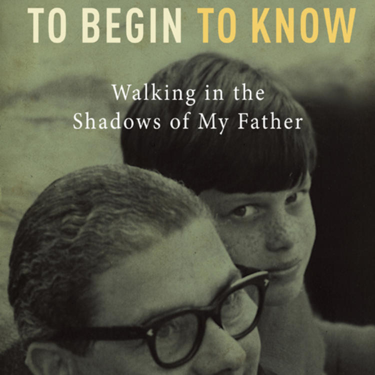 Boy with Father on book cover of To begin to know - Walking in the shadows of my father by David Leser