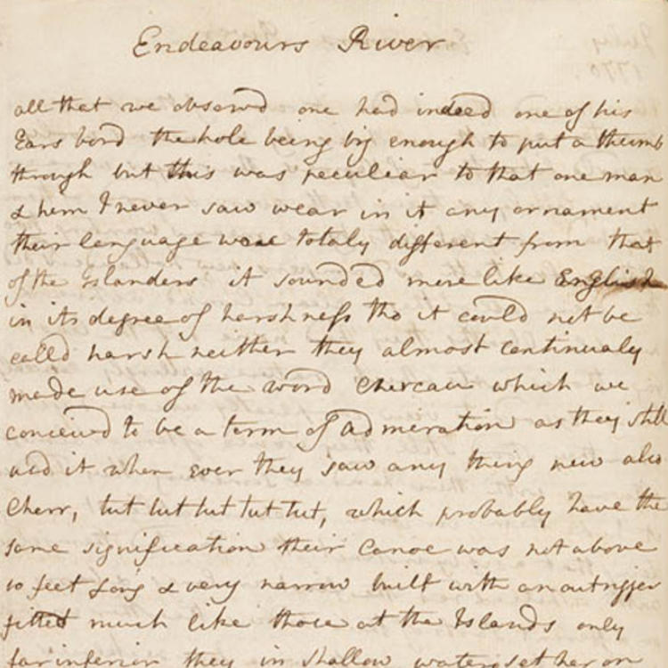 Handwritten letters on two pages yellowed manuscript