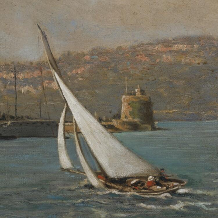 [Fort Denison], 1923 / oil painting by George F. Harris