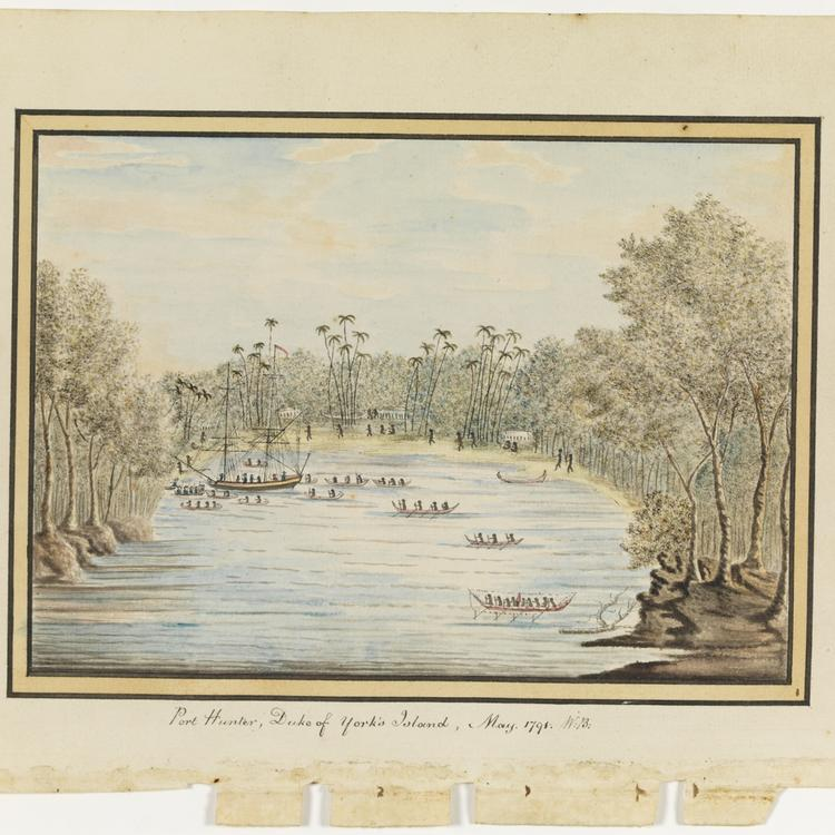 William Bradley - Drawings from his journal `A Voyage to New South Wales', 1802+