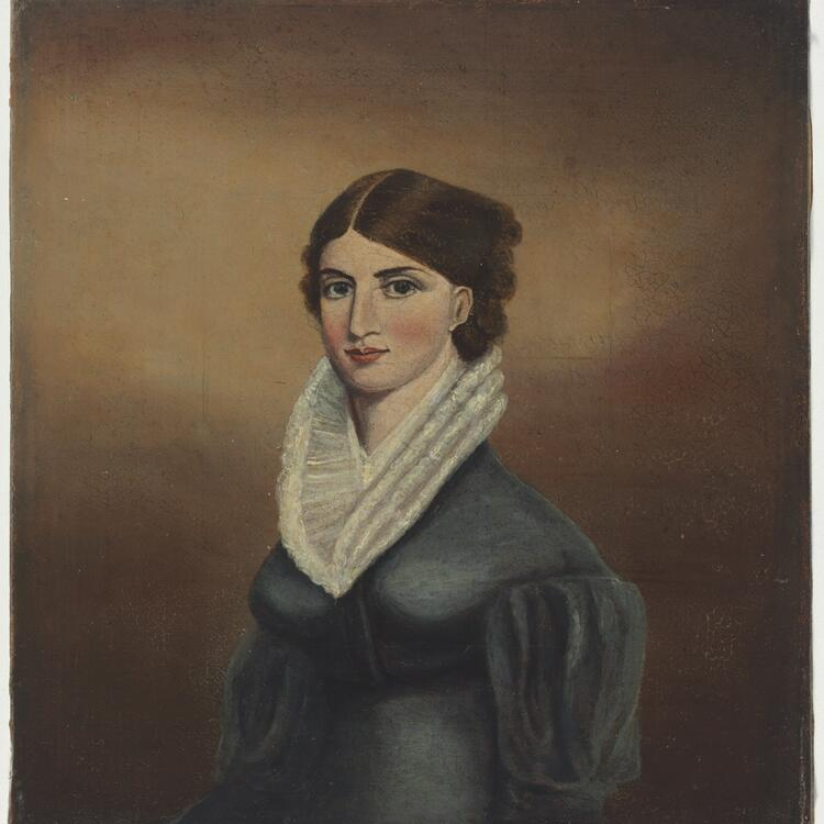 Frances (Mrs Edward Gostwyck) Cory, late 1820's / oil portrait by unknown artist