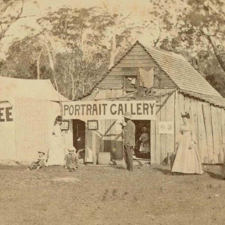 'Portrait Gallery' c. 1870, from the Earngey album [Photographic scenes and portraits of Fijian natives, Aborigines of Queensland and Clarence River NSW, British Royalty and the Exhibition Building at Prince Alfred park, 1870-1875]