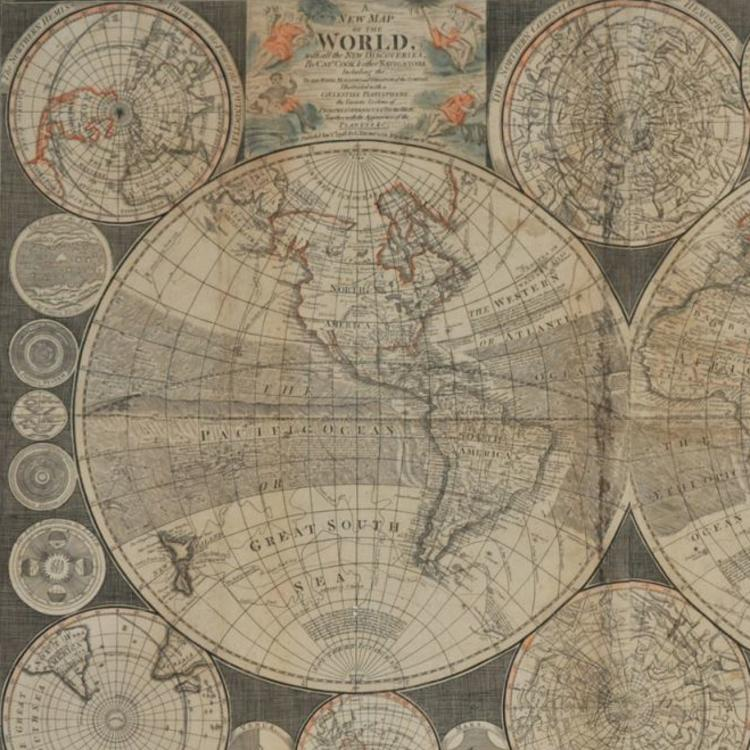 A New Map of the World, with all the New Discoveries by Capt. Cook and other navigators