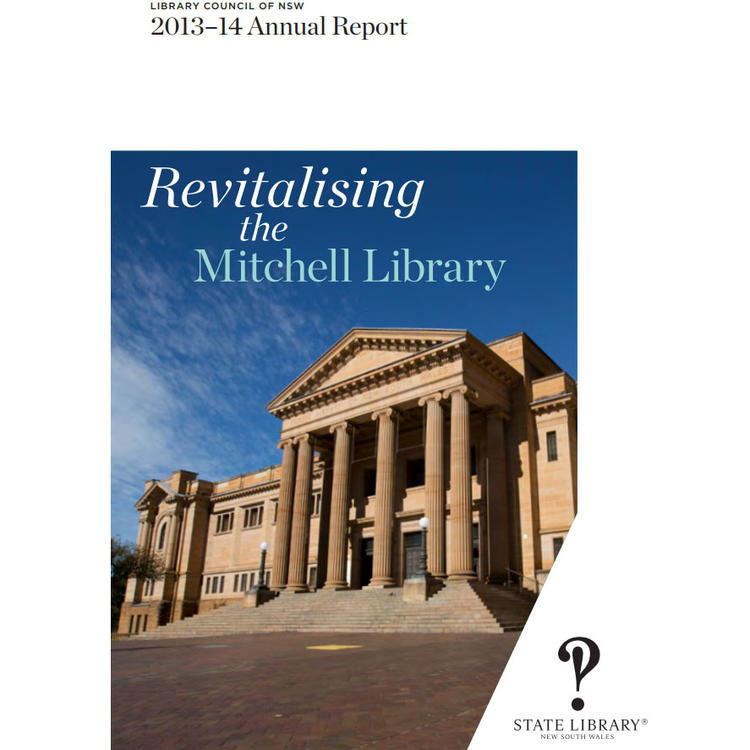 Cover of Library Council of NSW 2013-14 Annual Report