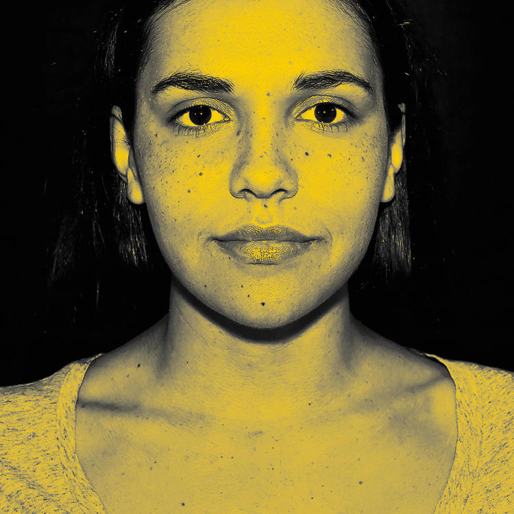 Visual identity for Bayala, head shot of woman tinted yellow