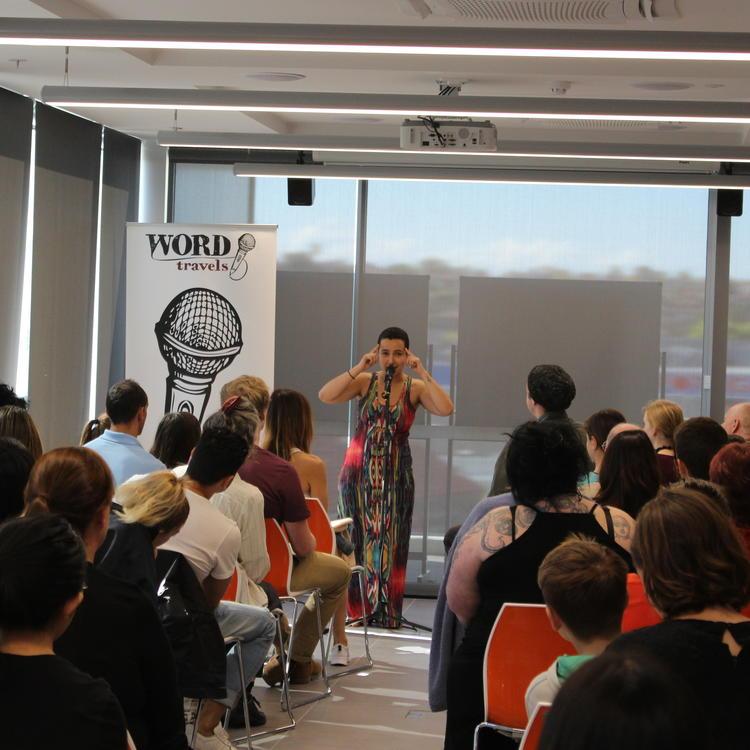 Rockdale Library Poetry Slam heat winner Nardine