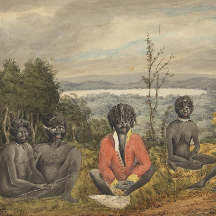 VIEW OF AWABAKAL ABORIGINAL PEOPLE, C 1818