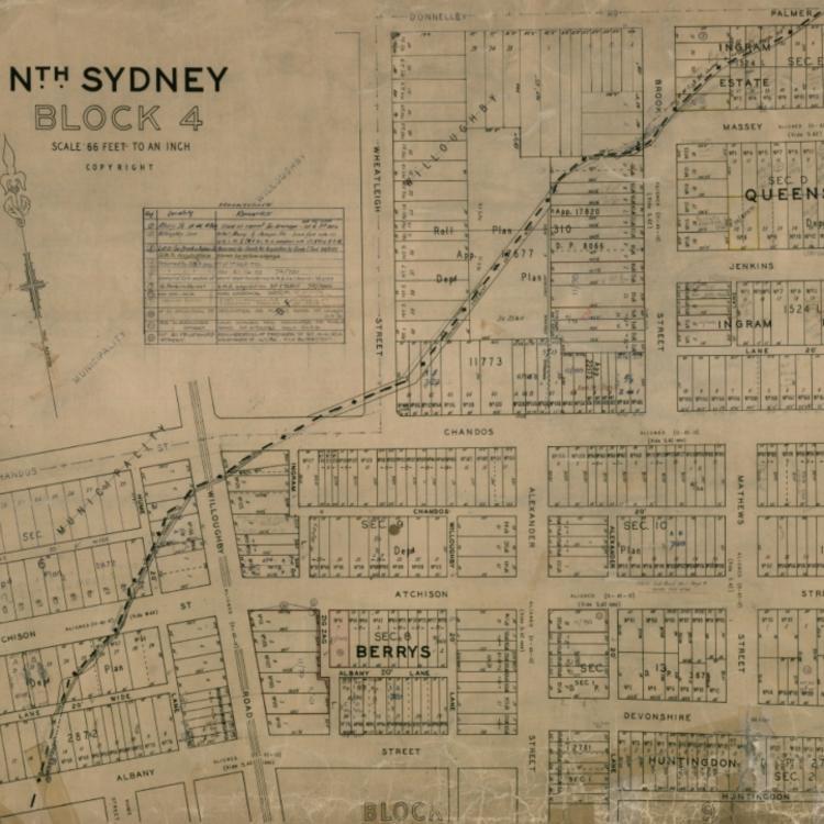drawings of North Sydney block plans