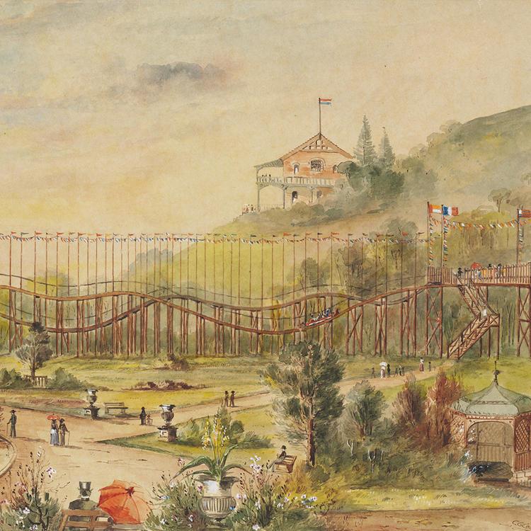 Bondi Beach pleasure park, at Tamarama, c. 1888 Planting Dreams Exhibition 2016