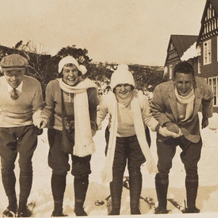 Emily Chambers on ski slopes