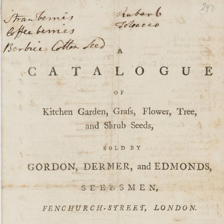 A catalogue of kitchen garden, grass, flower, tree and shrub seeds