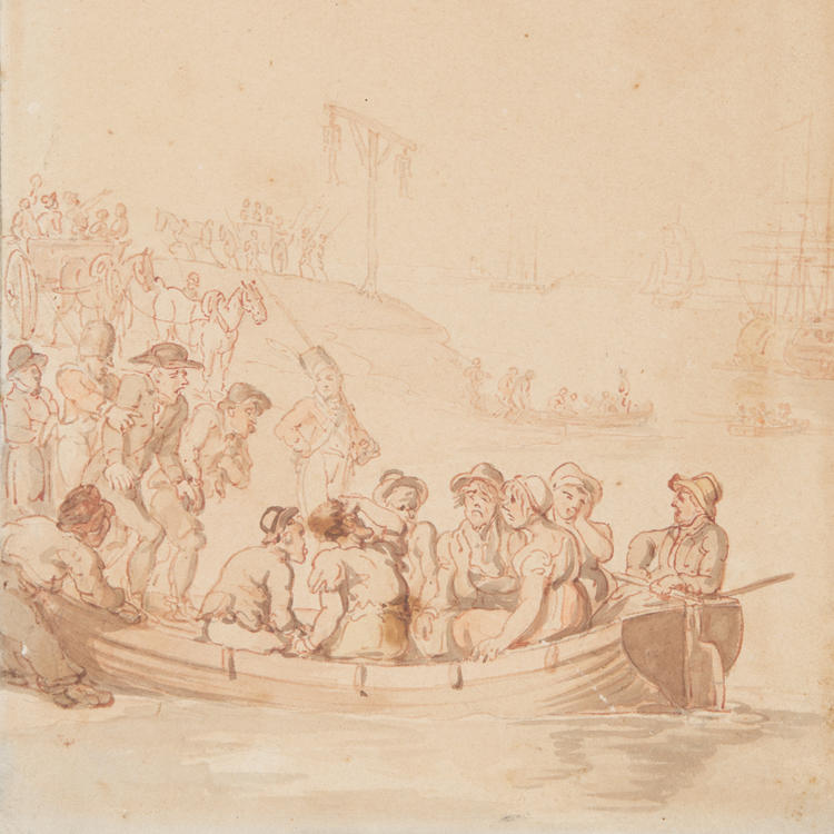 Convicts embarking for Botany Bay
