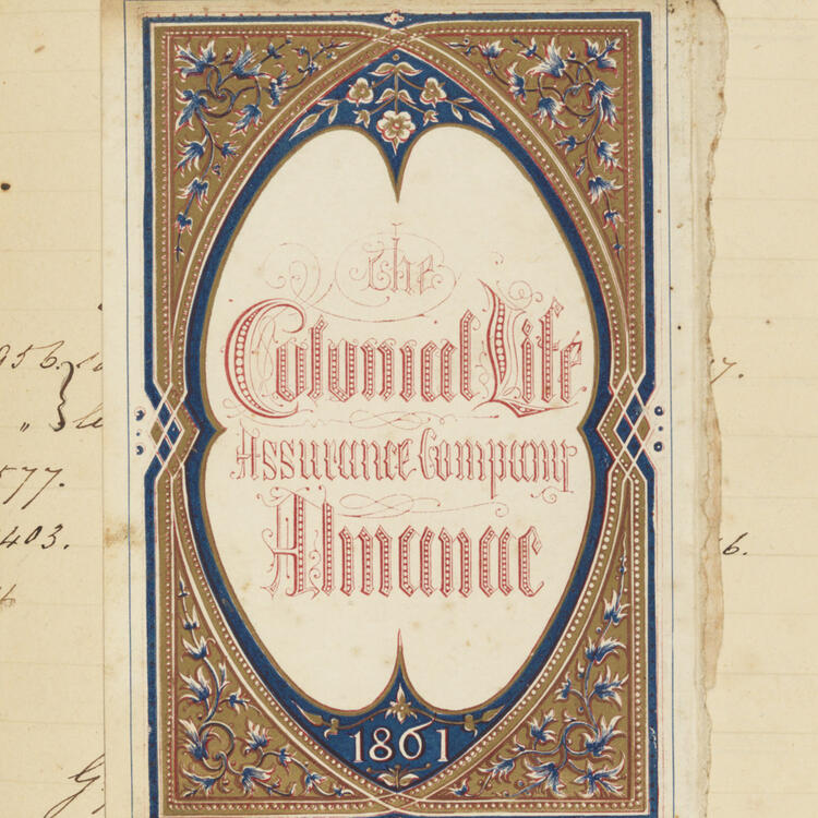 The Colonial Life Assurance Company page selection from Ronald Gunn's catalogue