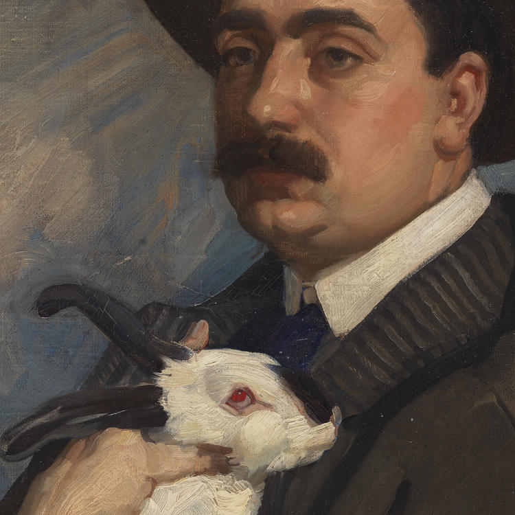 Man with rabbit, ca. 1910 / by George Washington Lambert