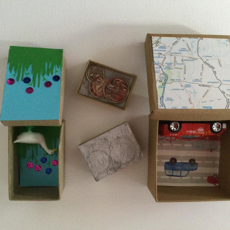A box of collected items