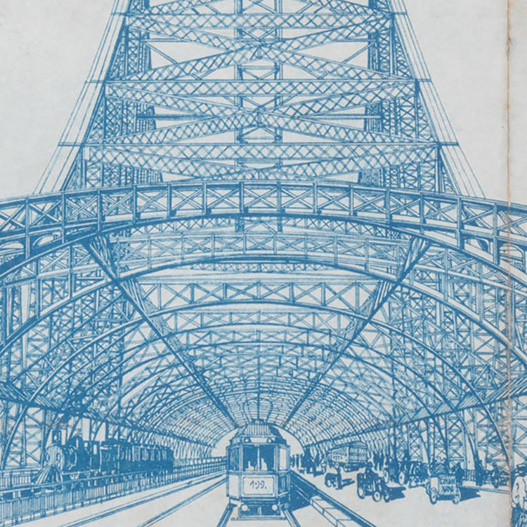 Architectural plans of alternate Sydney Harbour Bridge design