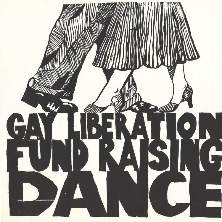 Coming Out in the 70s exhibition dance poster