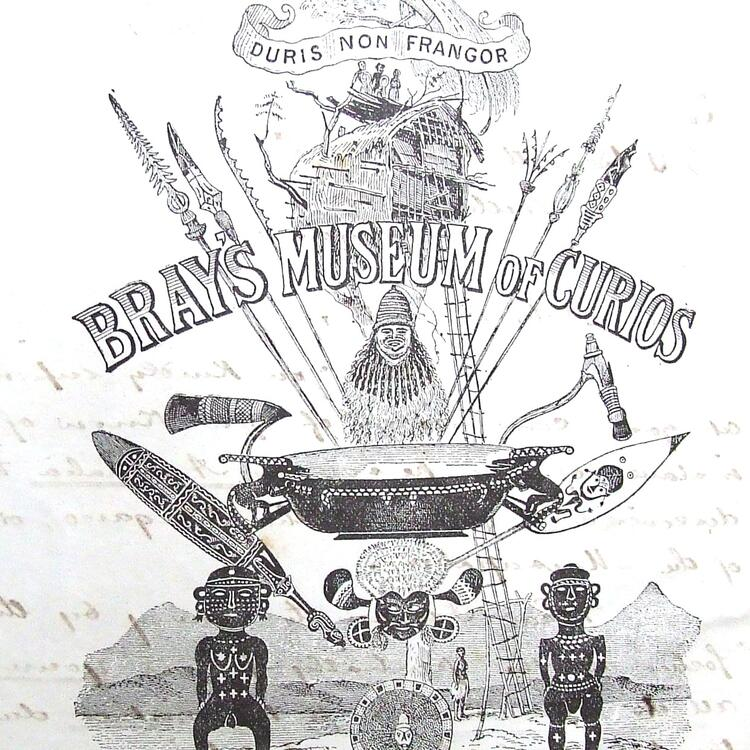 poster for James Bray and his museum of Curious