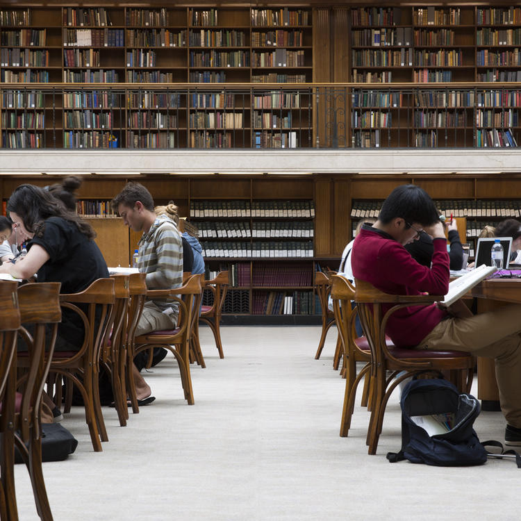 Clients studying in the Mitchell Library Reading Room