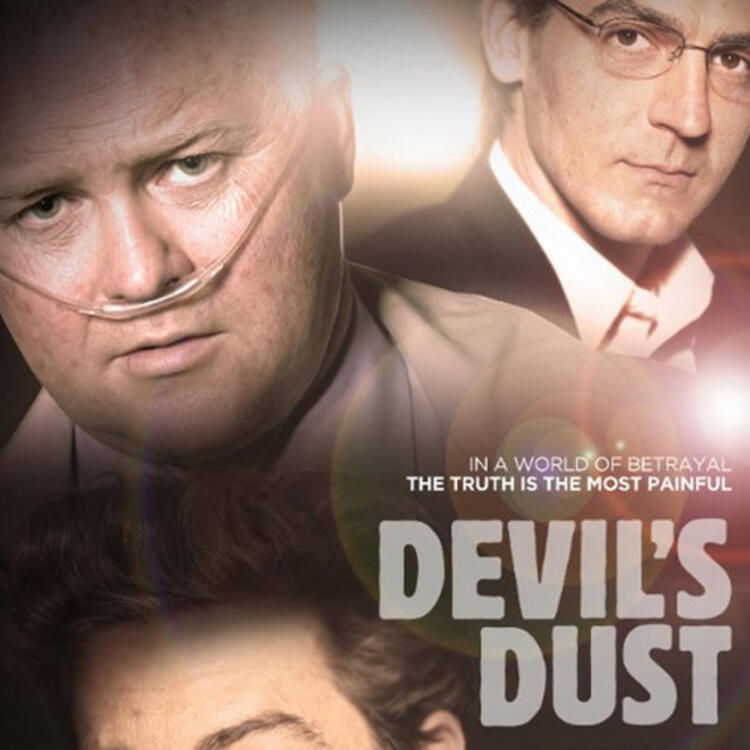 3 main characters on the cover of Devil's Dust - Kris Mrksa (Fremantle Media/ABC TV)