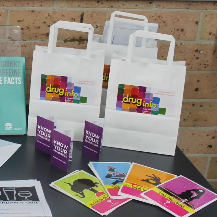Display of Drug Info promotional material