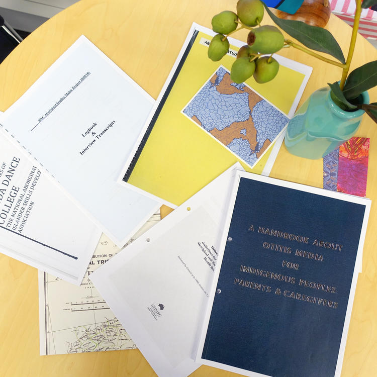 Copies of the HSC Aboriginal studies major projects from exemplary students