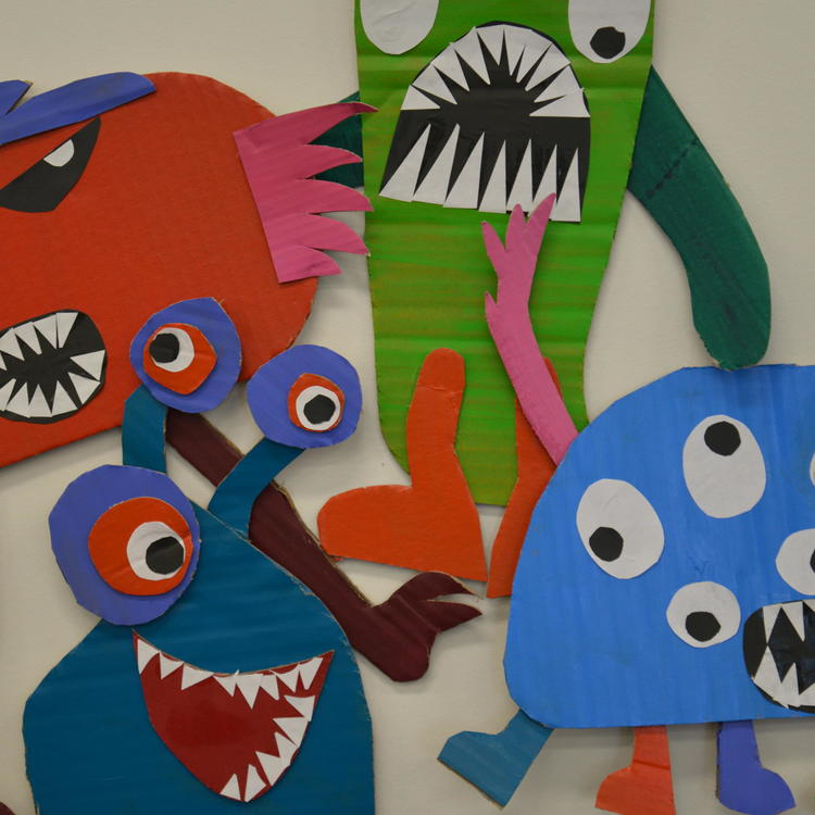 Cardboard monsters