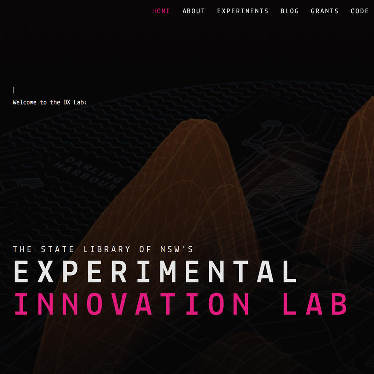 Image of DX Lab home page