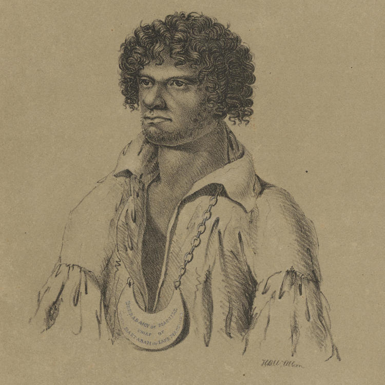 Beerabahn or MacGill, Chief of Bartabah or Lake Macquarie, [1830?] / lithograph by H. B. W. Allan