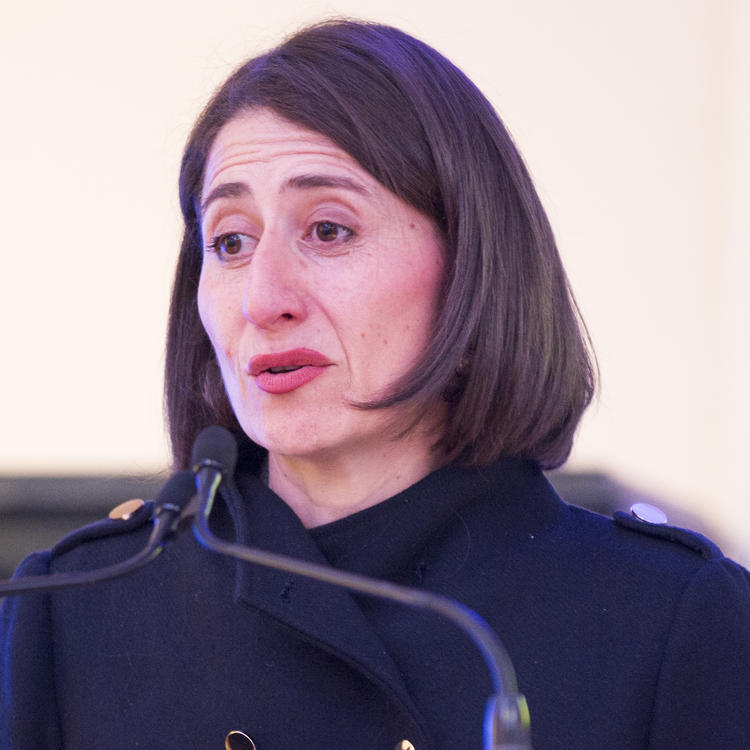 Premier Gladys Berejiklian addresses the crowd at the Premier's History Awards, 1 September 2017