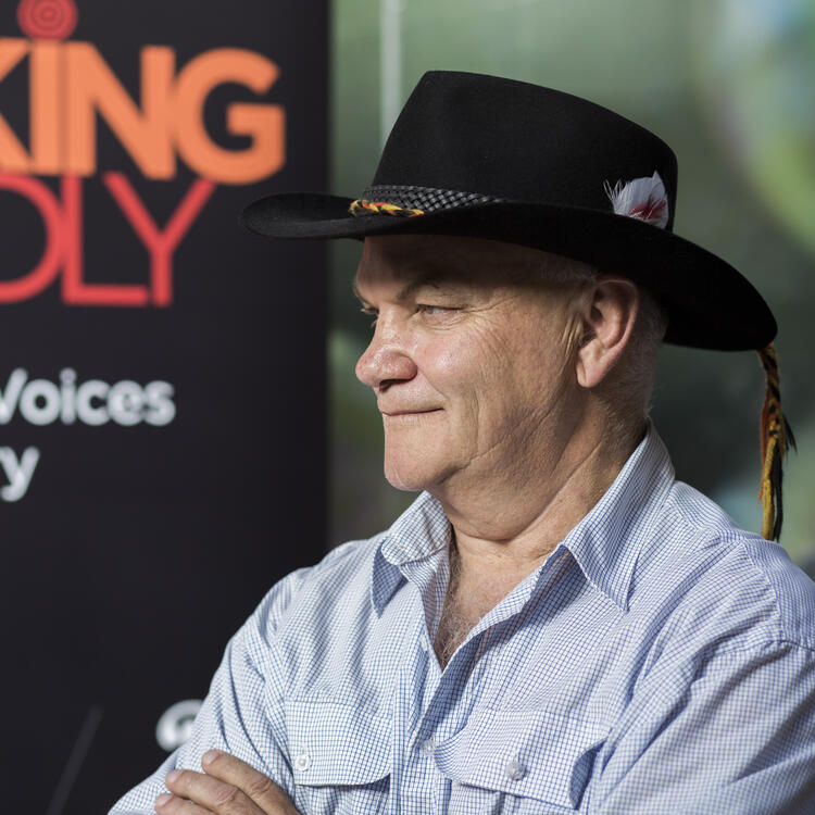 Professor Jack Beetson at a Talking Deadly event