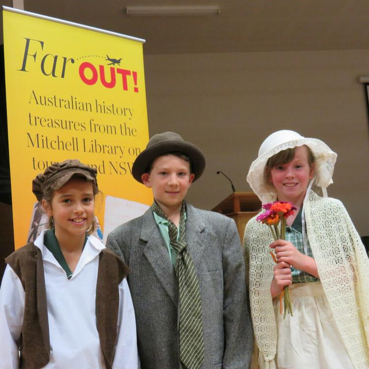 Students dressed up in Far  Out workshop