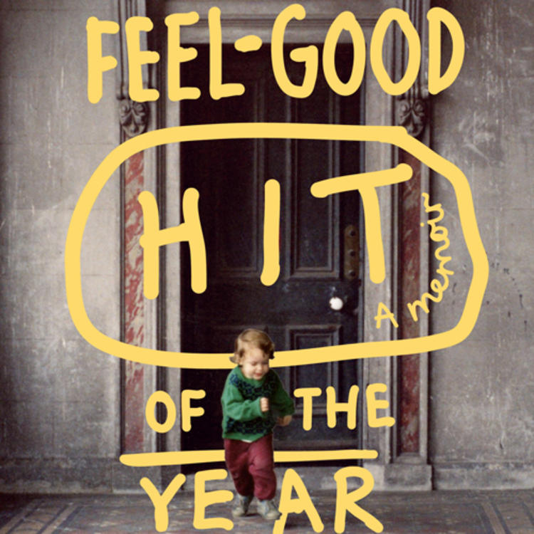 Child standing outside a door on book cover The Feel Good Hit of the Year A Memoir by Liam Pieper
