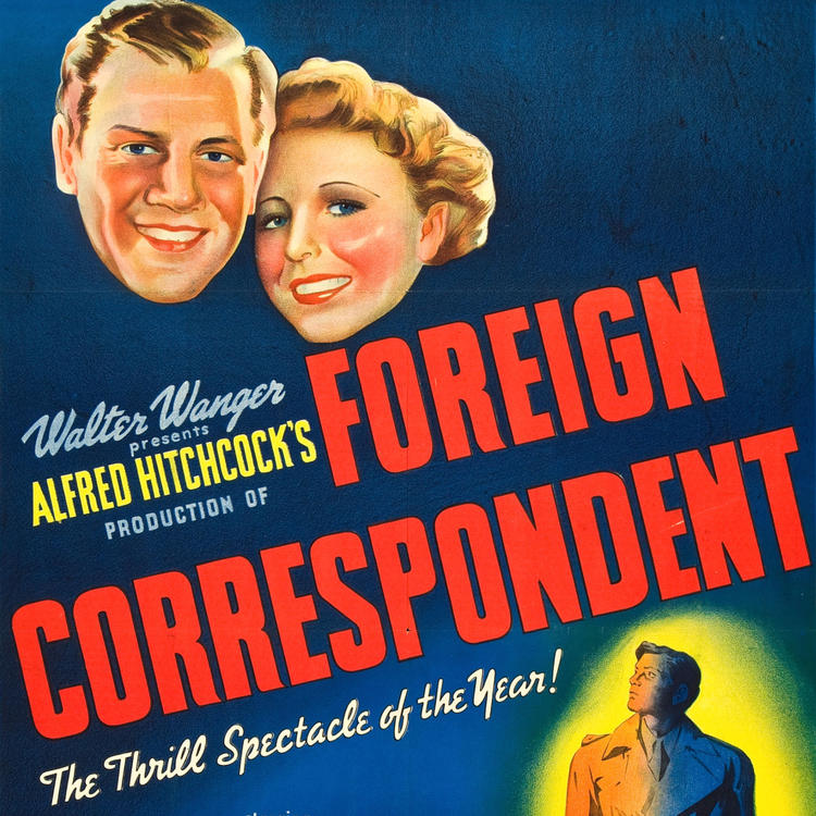 poster image for film, Foreign Correspondent