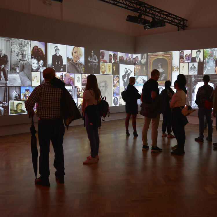 general public observing the New Self Wales exhibition