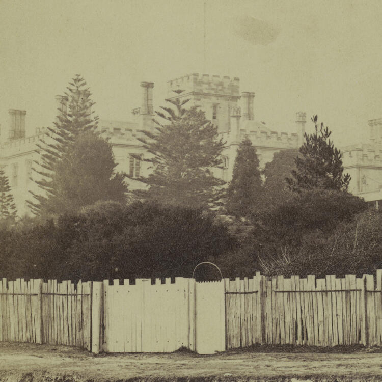 Government House, 1869, by Lieutenant-Colonel Trevor, State Library of New South Wales, PXA 974