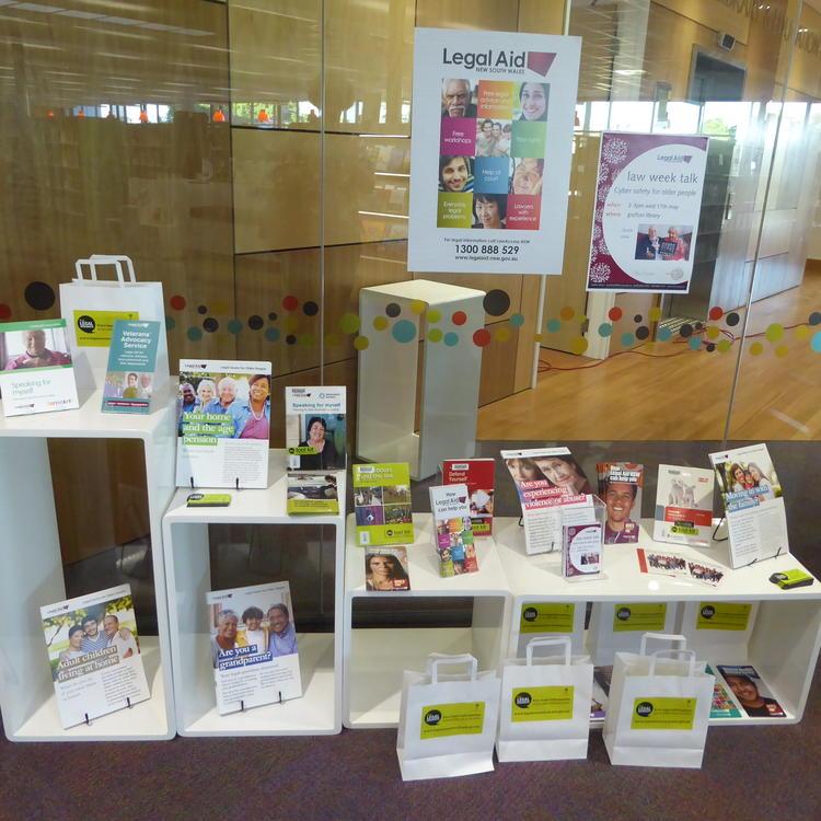 Law Week display at Grafton Library