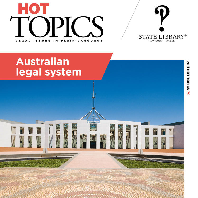 Cover image for Hot Topics Australian Legal System