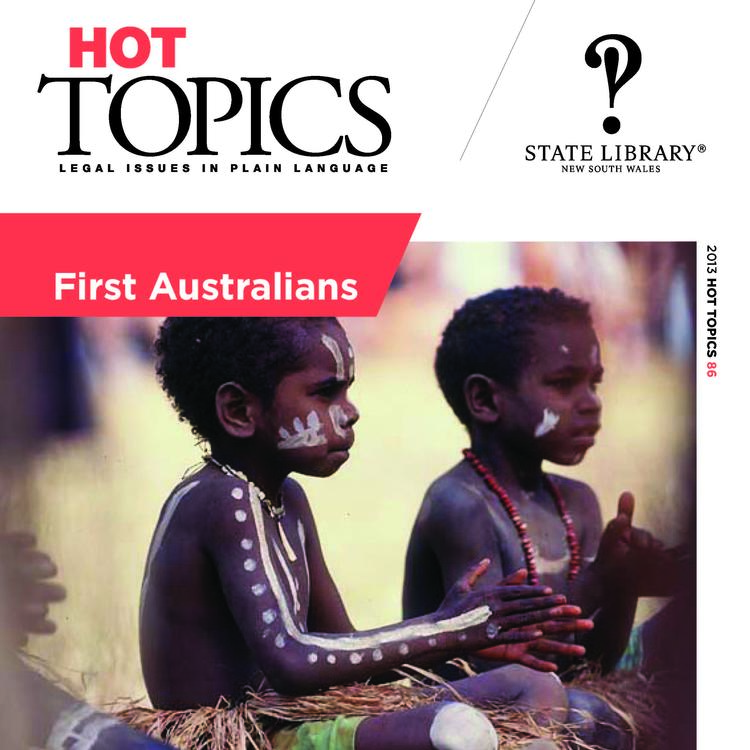 Cover image of Hot Topics First Australians