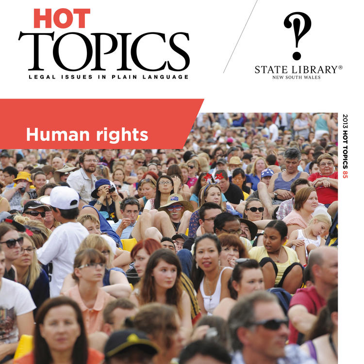 Cover for Hot Topics Human Rights