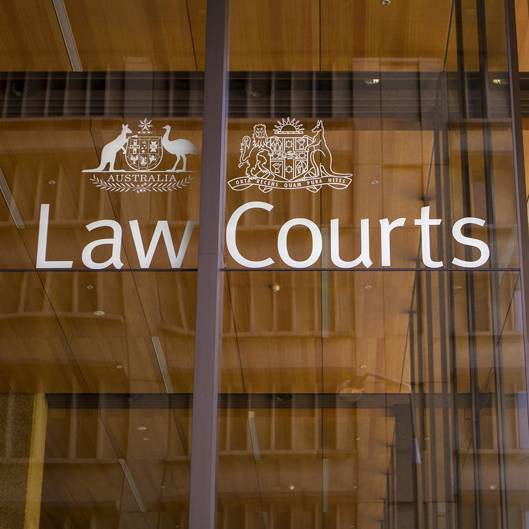 Photo of Law Courts signage