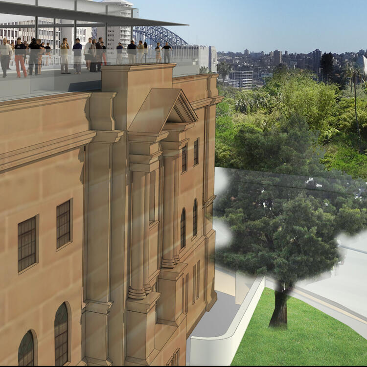 Artist's impression of proposed rooftop restaurant/function space